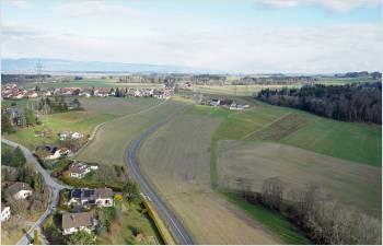 Début des travaux principaux de la route cantonale entre Cugy et Bottens