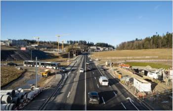 Début des grands travaux  sur la route de Berne
